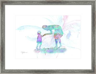 10839 Mom And Me Framed Print