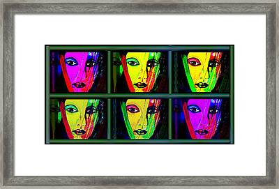 1085 - Triptychon Pop Colours 2017 Framed Print by Irmgard Schoendorf Welch