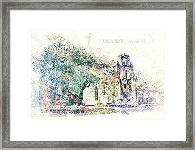 10858 Mission San Fransico De La Espada Framed Print by Pamela Williams