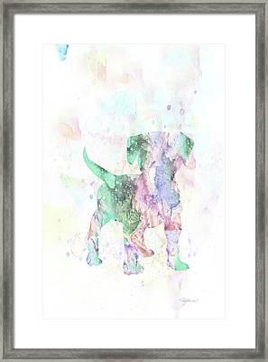 10860 Puppy Love Framed Print by Pamela Williams
