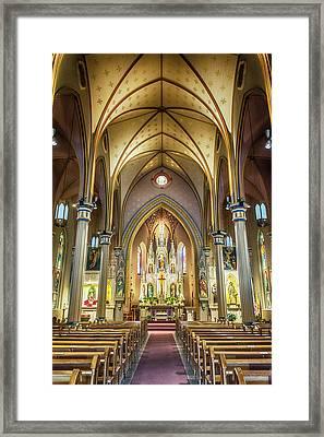 10871 St Joseph Catholic Church Framed Print