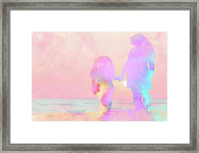 10876 Sunset With Mom Framed Print
