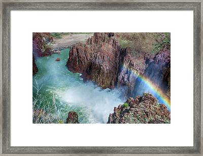 10883 Rainbow Over Owyhee Framed Print