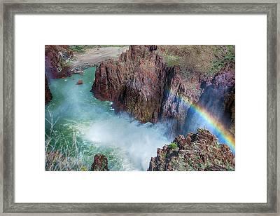 10883 Rainbow Over Owyhee Framed Print by Pamela Williams