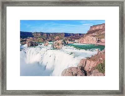 10917 Shoshone Falls Framed Print by Pamela Williams