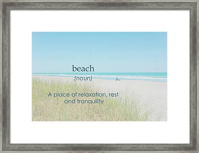 10967 Beach Tranquility Framed Print