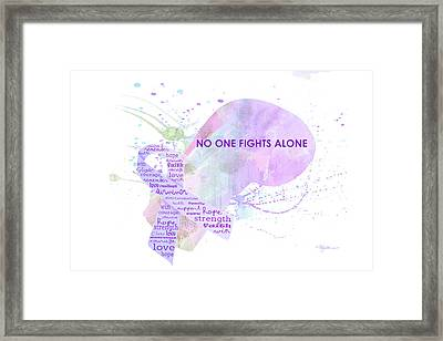 10969 No One Fights Alone Framed Print