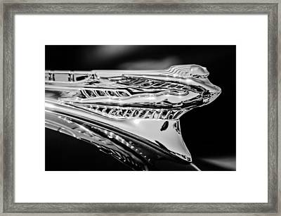 1946 Desoto Hood Ornament -169bw Framed Print by Jill Reger