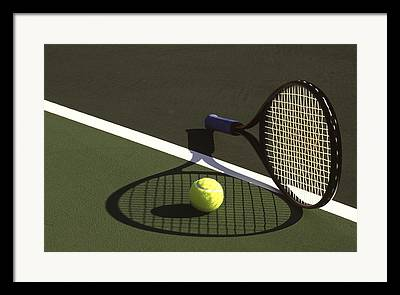 Tennis Photographs Framed Prints