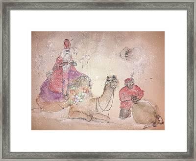 A Camel Story Album  Framed Print by Debbi Saccomanno Chan