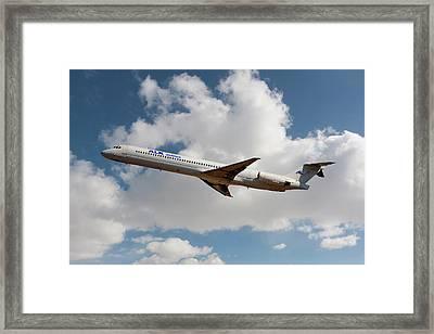 Alk Airlines Mcdonnell Douglas Md-82 Framed Print