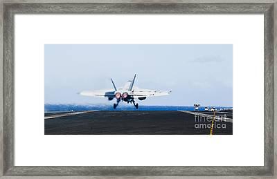 An Fa-18e Super Hornet Launches Framed Print by Stocktrek Images