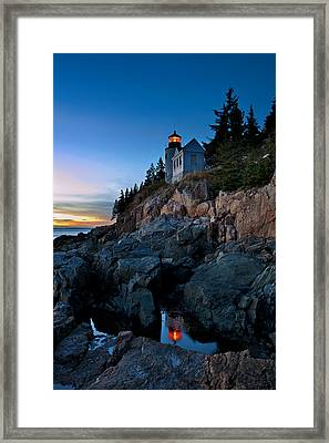 Bass Harbor Lighthouse Framed Print by John Greim