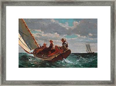 Breezing Up Framed Print