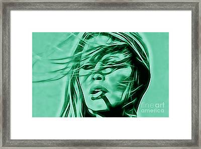 Brigitte Bardot Collection Framed Print by Marvin Blaine