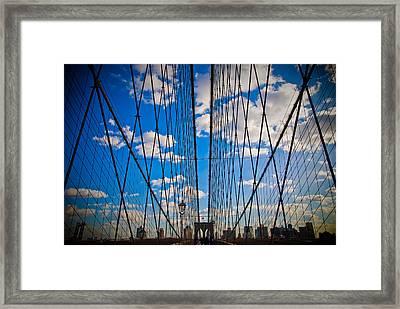 Brooklyn Bridge Framed Print by Patrick  Flynn