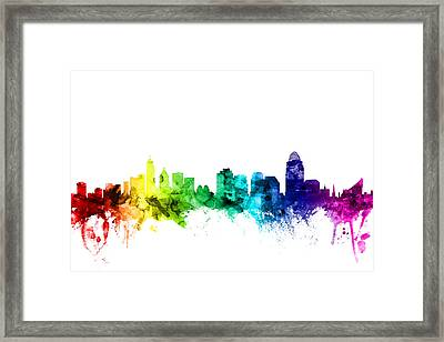Cincinnati Ohio Skyline Framed Print