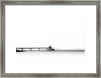 Clevedon Pier Framed Print by Don Hooper