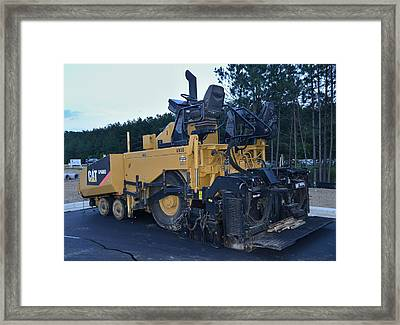 11 - Paver - Construction Equipment Photos Series Framed Print by Matt Plyler