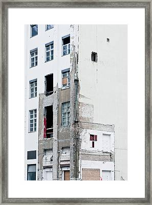 Construction Framed Print by Tom Gowanlock
