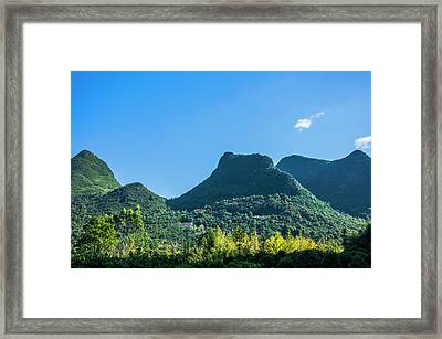 Countryside Scenery In Autumn Framed Print