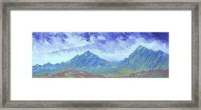 Earth Light Series Framed Print by Len Sodenkamp