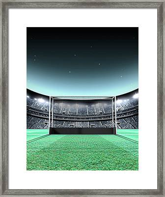 Floodlit Stadium Night Framed Print