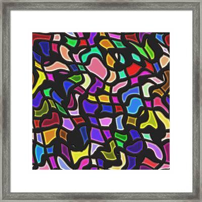 Glass Mosaic Framed Print by Miroslav Nemecek