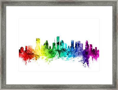 Houston Texas Skyline Framed Print