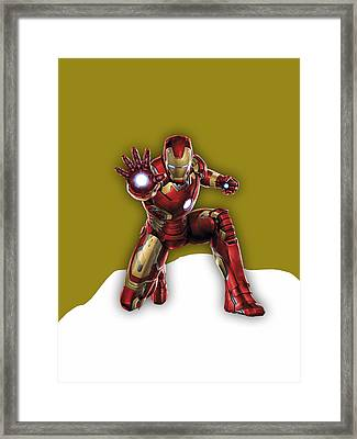 Iron Man Collection Framed Print by Marvin Blaine