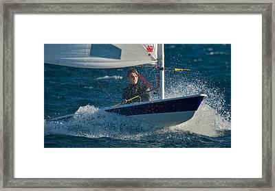 Lake Tahoe Sailboat Racing Framed Print