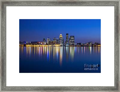 Louisville, Kentucky Skyline Framed Print by Twenty Two North Photography