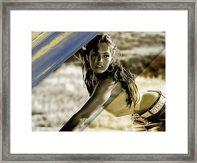 Megan Fox Collection Framed Print by Marvin Blaine