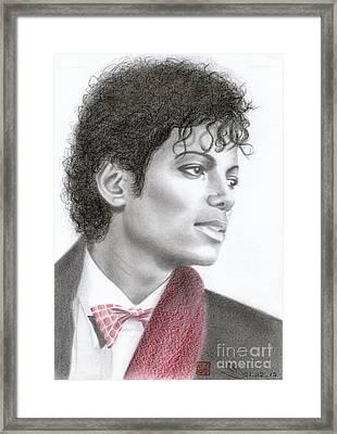 Michael Jackson #five Framed Print by Eliza Lo