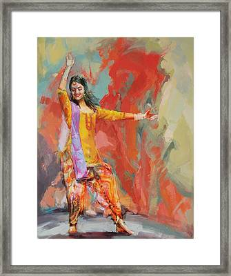 11 Pakistan Folk Punjab Framed Print by Maryam Mughal