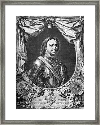 Peter I (1672-1725) Framed Print