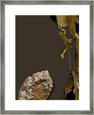 Rock Climber Collection Framed Print