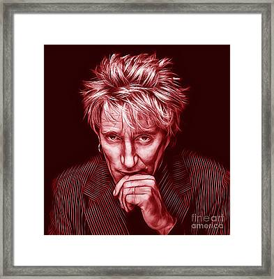 Rod Stewart Collection Framed Print by Marvin Blaine