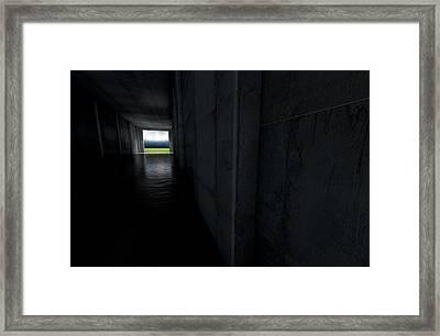 Sports Stadium Tunnel Framed Print by Allan Swart