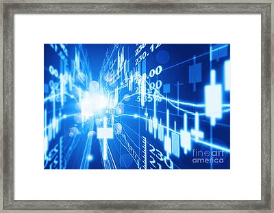 Framed Print featuring the photograph Stock Market Concept by Setsiri Silapasuwanchai