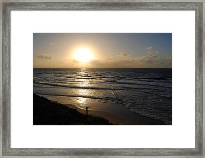 Sunset At Jaffa Beach 5 Framed Print by Isam Awad