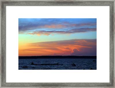 Sunset At Verona Beach Framed Print