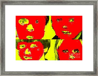 Talking Heads Collection Framed Print by Marvin Blaine