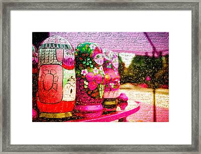 Russian Matrushka Dolls Wall Art Framed Print