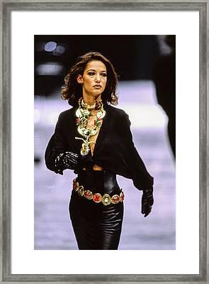 Versace Fall 1991 Rtw Show Framed Print by Guy Marineau