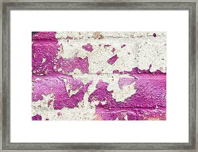 Weathered Wall Framed Print by Tom Gowanlock