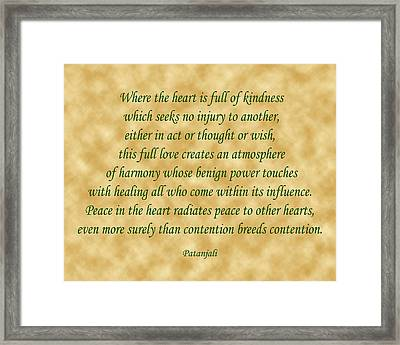 11- Where The Heart Is Full Framed Print by Joseph Keane