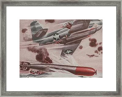 World War II Advertisement Framed Print