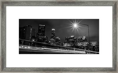 Framed Print featuring the photograph 110 Freeway Los Angeles by April Reppucci
