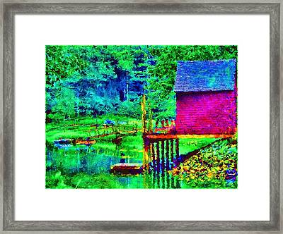 11052008a  Boat House On The Inlet Framed Print by Ed Immar
